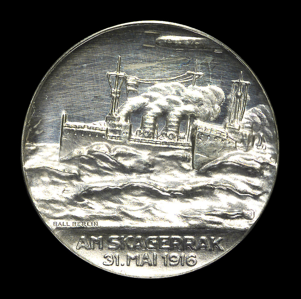 Detail of Medal commemorating Admiral Franz von Hipper (1863-1932) and the Battle of Jutland, 1916; reverse by F. Eue