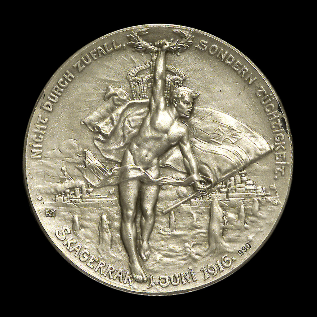 Detail of Medal commemorating Admiral Eduard von Capelle (1855-1931) and the Battle of Jutland, 1916; reverse by B.H. Mayer