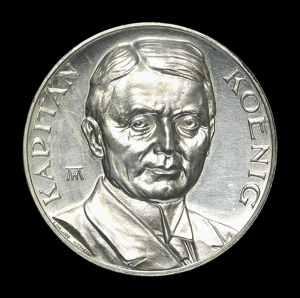Detail of Medal commemorating Captain Paul König and the submarine 'Deutschland' by August Hummel