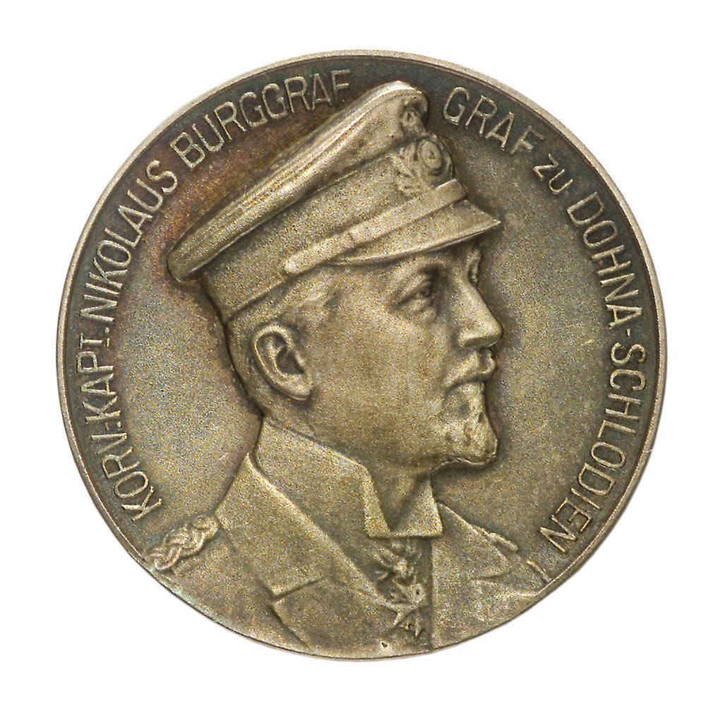 Detail of Medal commemorating Corvette Captain Nicolas Burgraf Count Dohna-Schlodien; obverse by D.M. Lauer