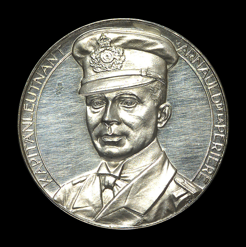 Detail of Medal commemorating Captain Lothar von Arnauld de la Perière and the submarine 'U35' by Lauer Bros.