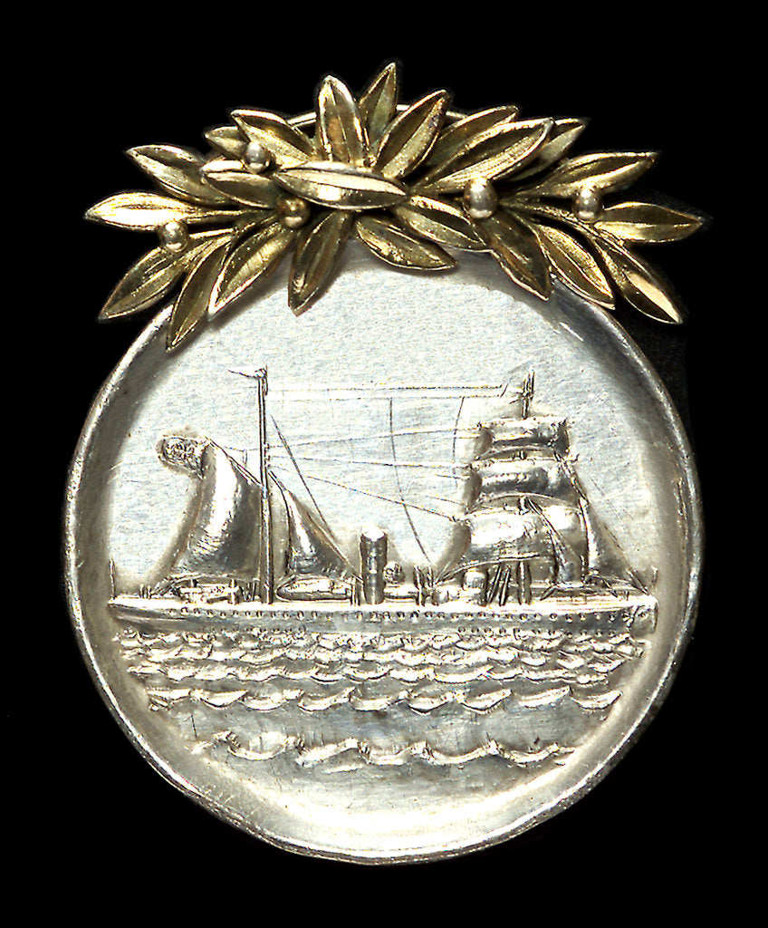 Detail of Medal commemorating the voyage of the 'Meteor', survey ship, 1925-1927; obverse by Bavarian Mint