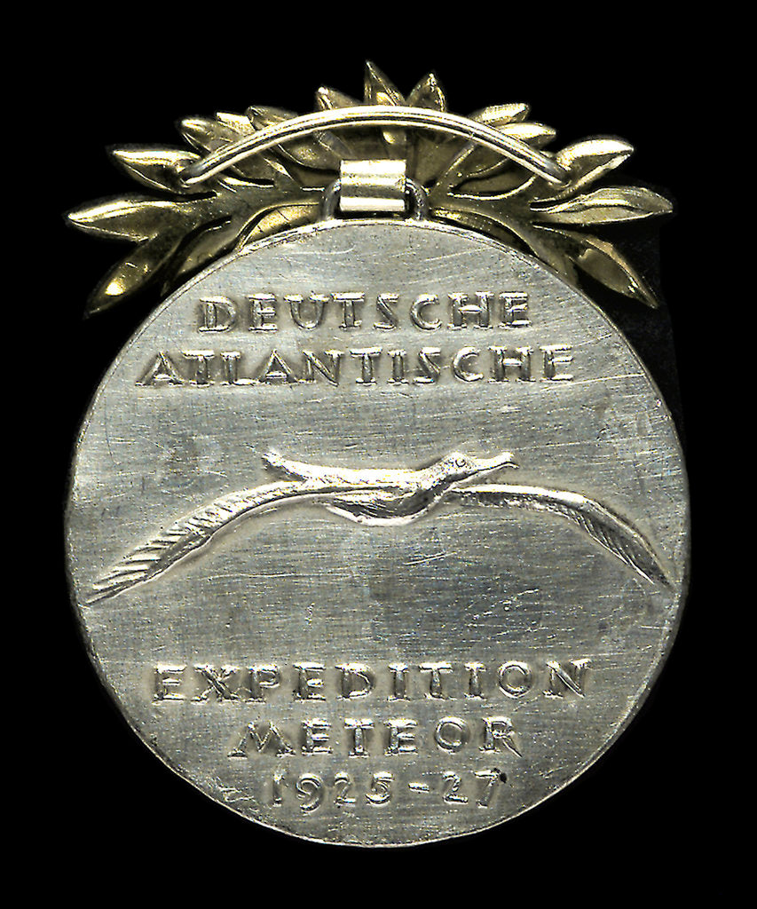 Detail of Medal commemorating the voyage of the 'Meteor', survey ship, 1925-1927; reverse by Bavarian Mint