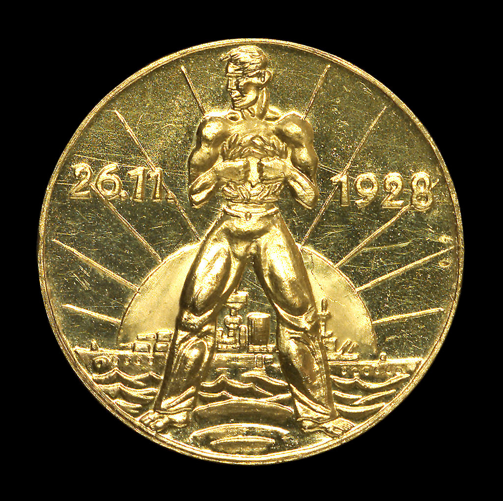 Detail of Medal commemorating Admiral Rheinhold von Scheer (1863-1928); reverse by unknown