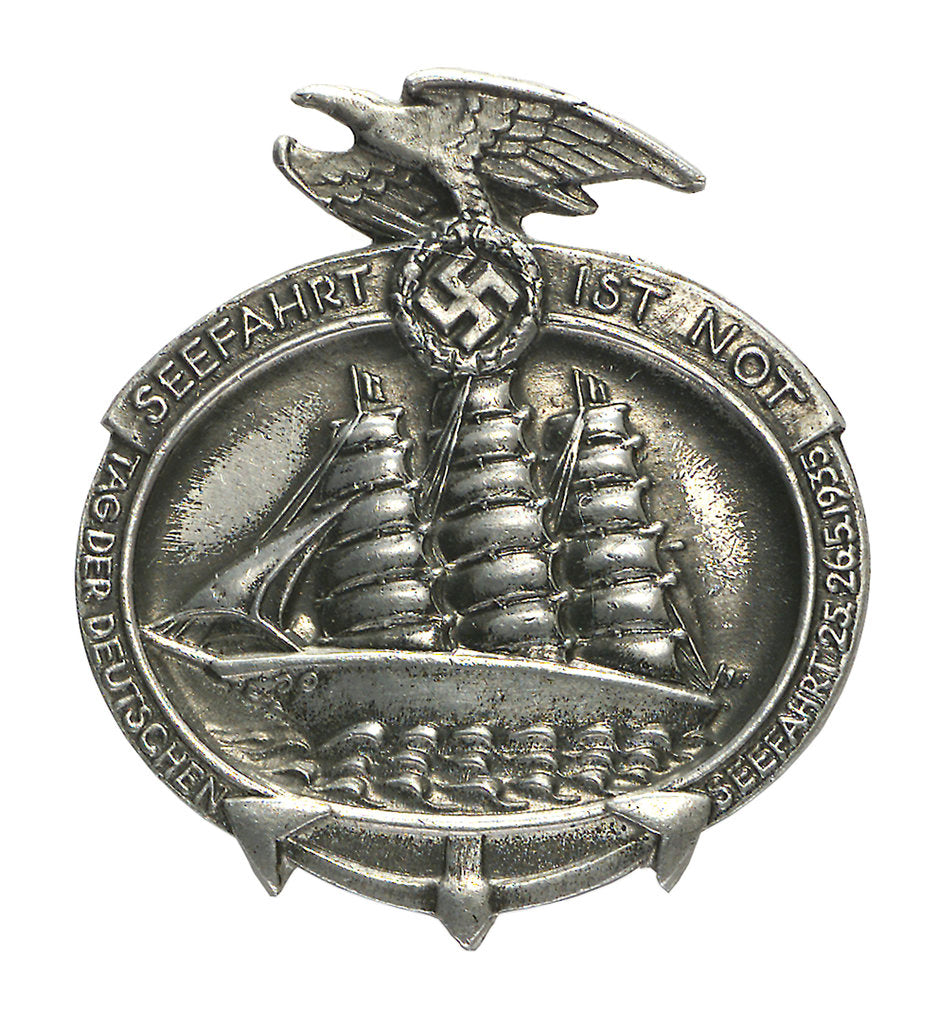 Detail of Merchant Service Badge; obverse by Paul Schulze