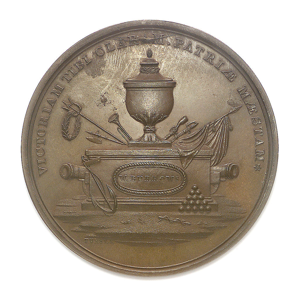 Detail of Medal commemorating the action between USS 'Enterprise' and HMS 'Boxer', 1813; obverse by Moritz Furst