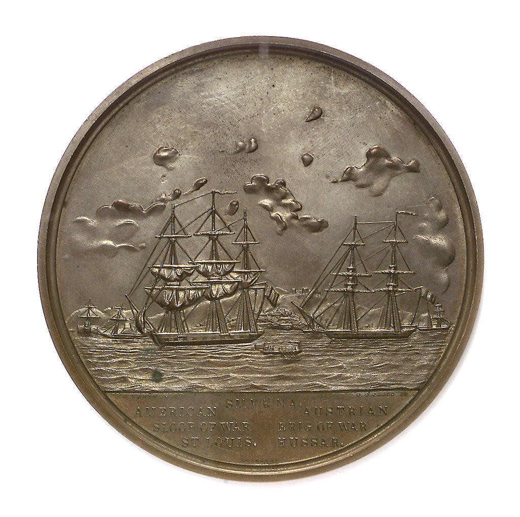 Detail of Medal commemorating Commander Nathaniel Ingraham (1802-1891) and the Smyrna incident, 1853; obverse by S. Eastman