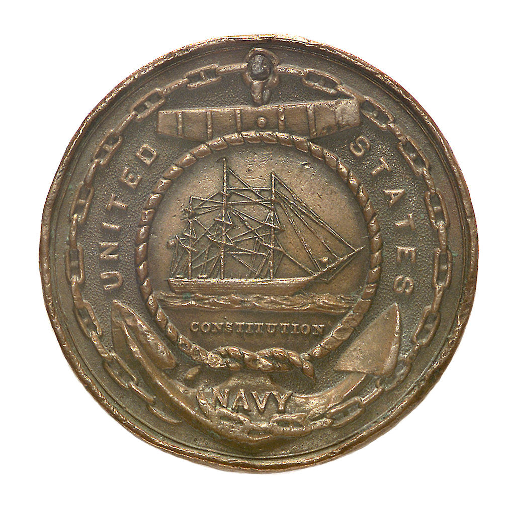 Detail of Token commemorating the United States Navy; obverse by unknown