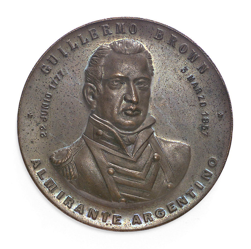 Detail of Medal commemorating Admiral William Brown (1777-1857); obverse by unknown