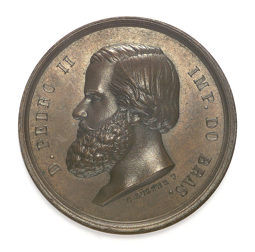 Detail of Medal commemorating the opening of the Imperial Dock, Rio de Janeiro, 1861; obverse by C. L