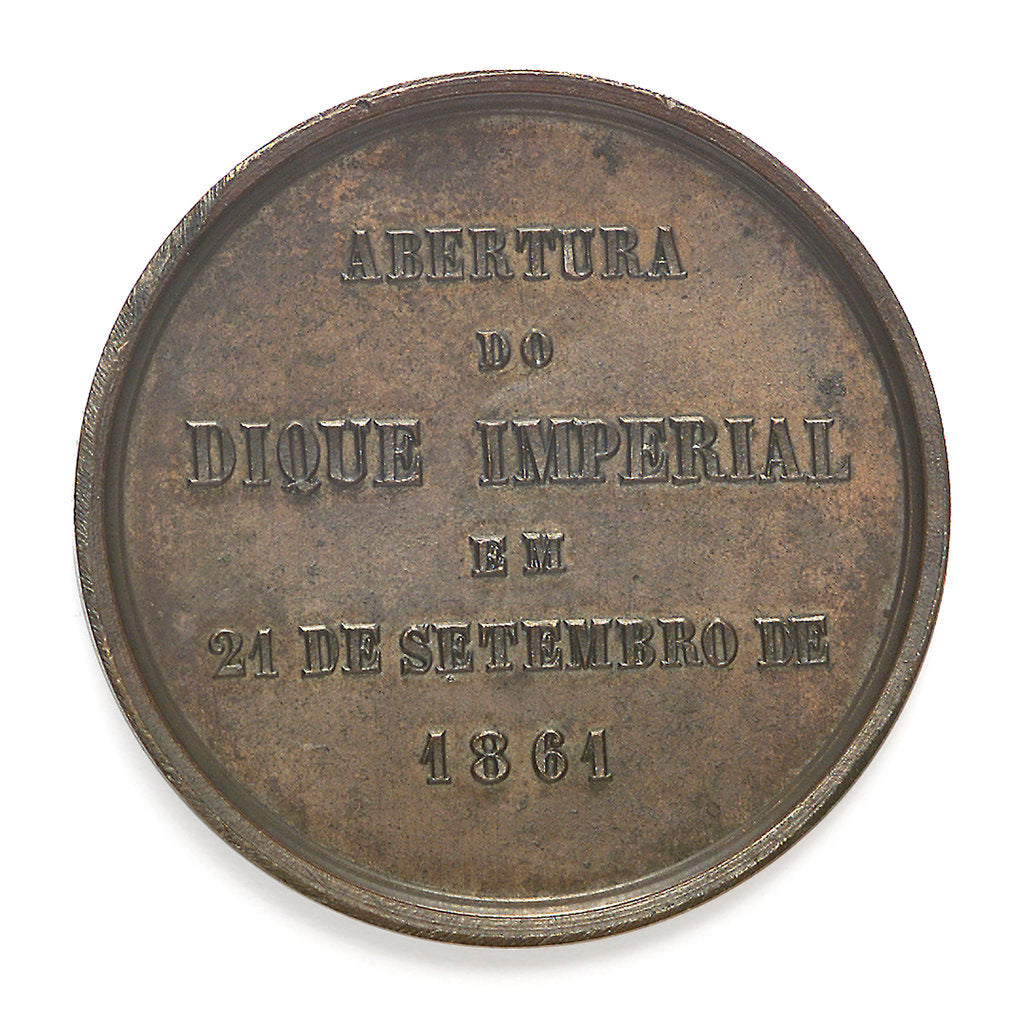 Detail of Medal commemorating the opening of the Imperial Dock, Rio de Janeiro, 1861; reverse by C. L
