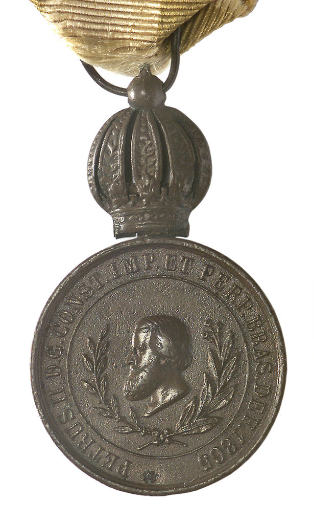 Detail of Medal commemorating the Battle of Riachuelo, 1865; obverse by unknown