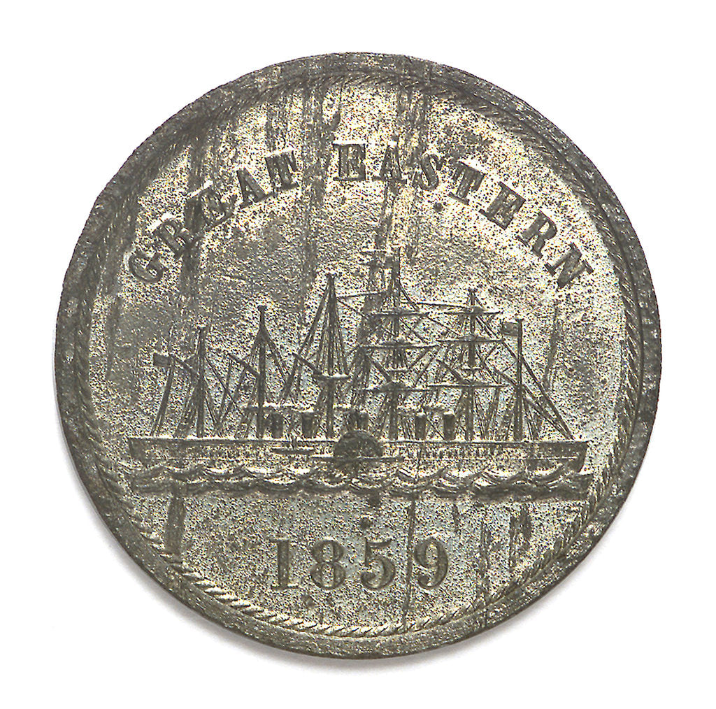 Detail of Medal commemorating the SS 'Great Eastern'; obverse by J.H. Merriam