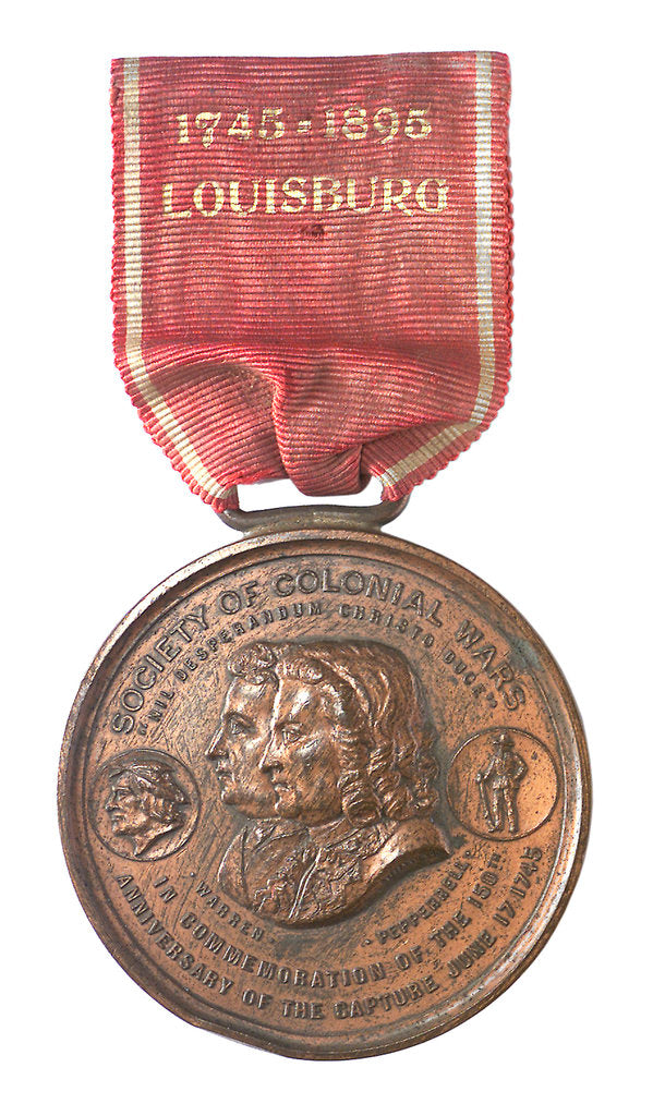 Detail of Medal commemorating the 150th anniversary of the capture of Louisbourg, 1895; obverse by Tiffany & Co.