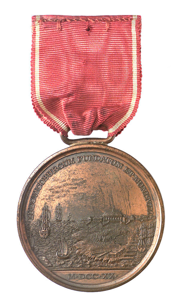 Detail of Medal commemorating the 150th anniversary of the capture of Louisbourg, 1895; reverse by Tiffany & Co.
