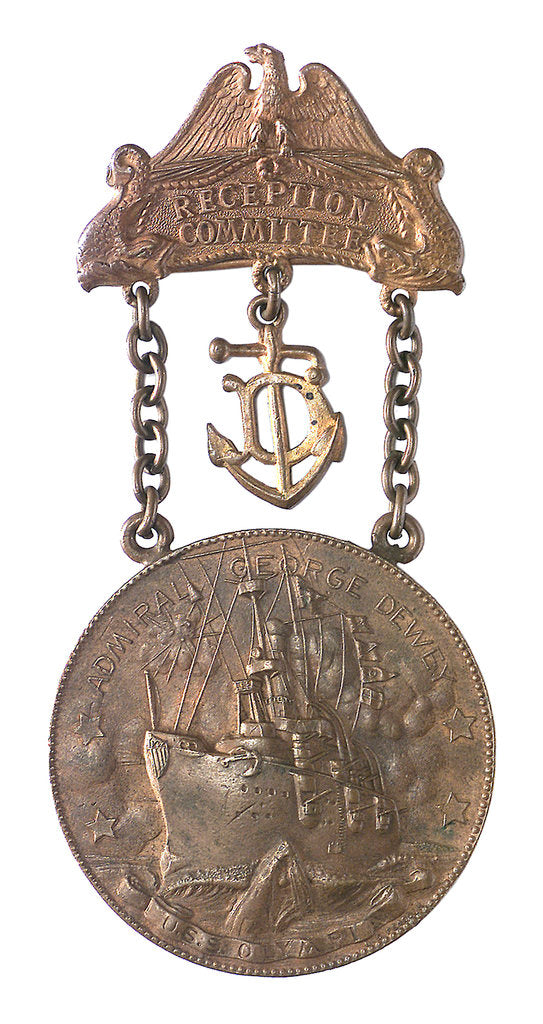 Detail of Medal commemorating the Battle of Manila Bay - 2nd anniversary; obverse by unknown