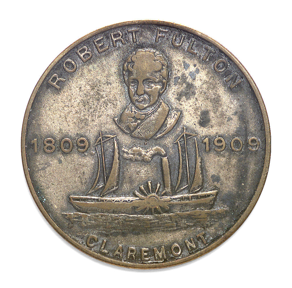 Detail of Medal commemorating the Hudson-Fulton celebration, 1909; obverse by Whitehead & Hoag