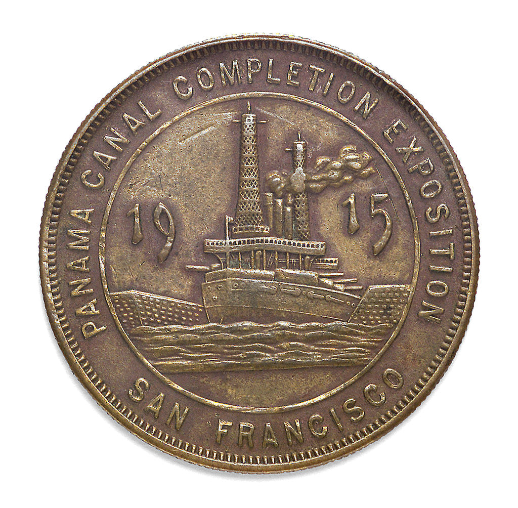 Detail of Medal commemorating the Panama Canal completion exposition San Francisco, 1915; reverse by unknown