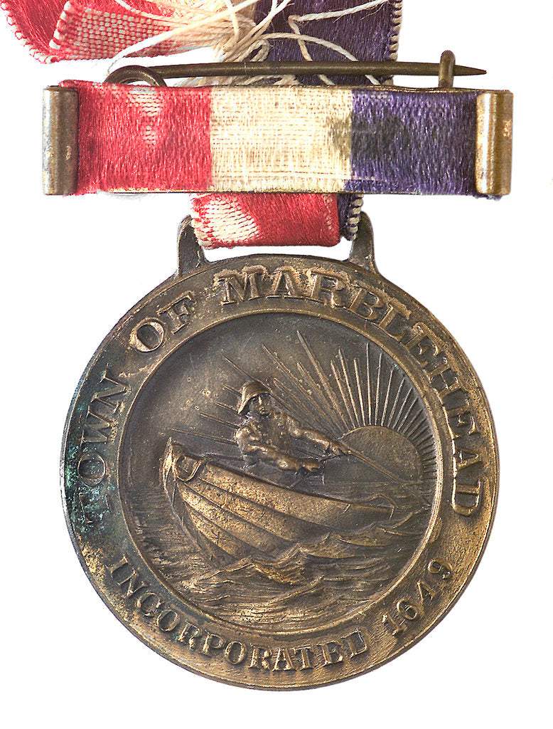 Detail of Medal commemorating the tercentenary of Marblehead Massachusetts, 1929; obverse by unknown