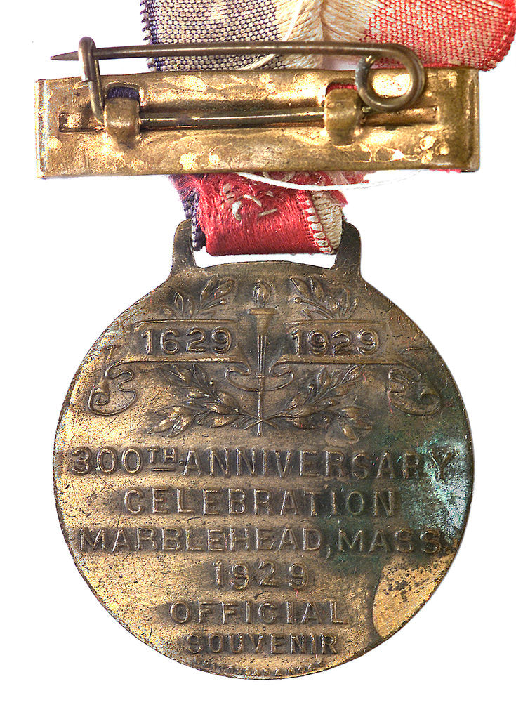 Detail of Medal commemorating the tercentenary of Marblehead Massachusetts, 1929; reverse by unknown