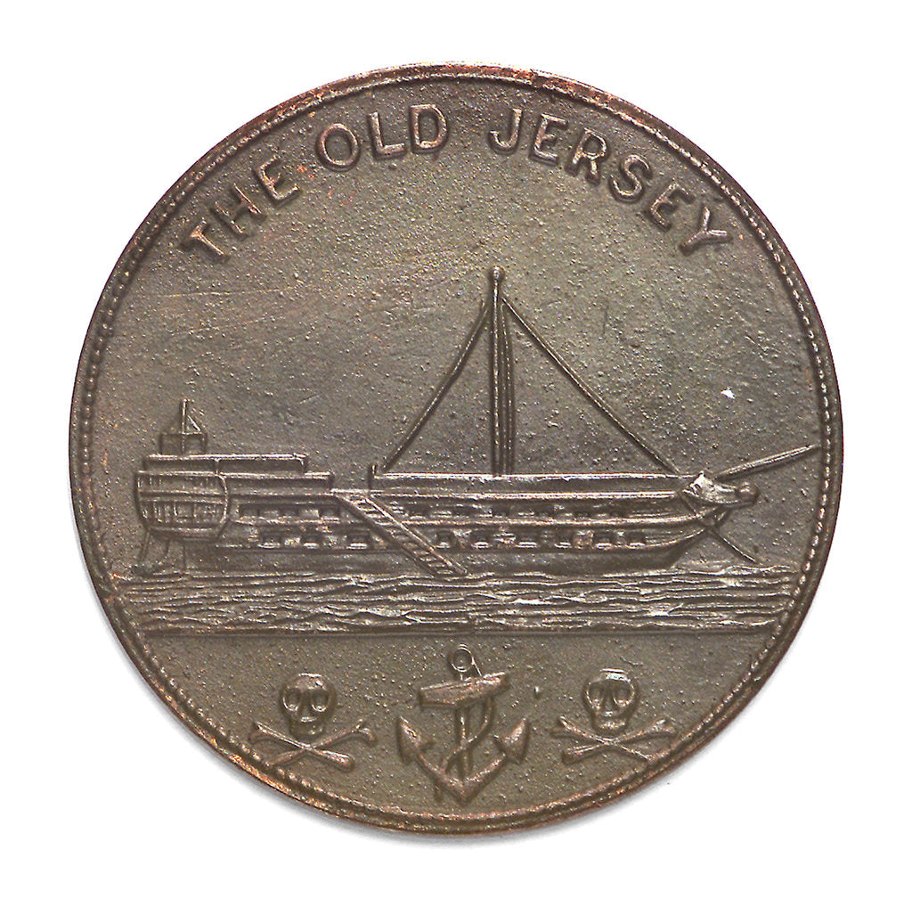 Detail of Token commemorating HMS 'Jersey'; obverse by unknown