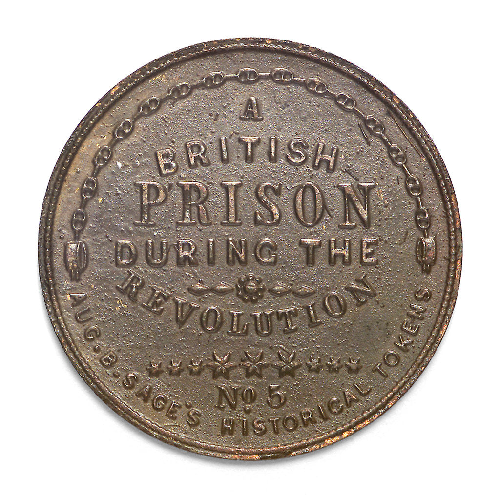 Detail of Token commemorating HMS 'Jersey'; reverse by unknown