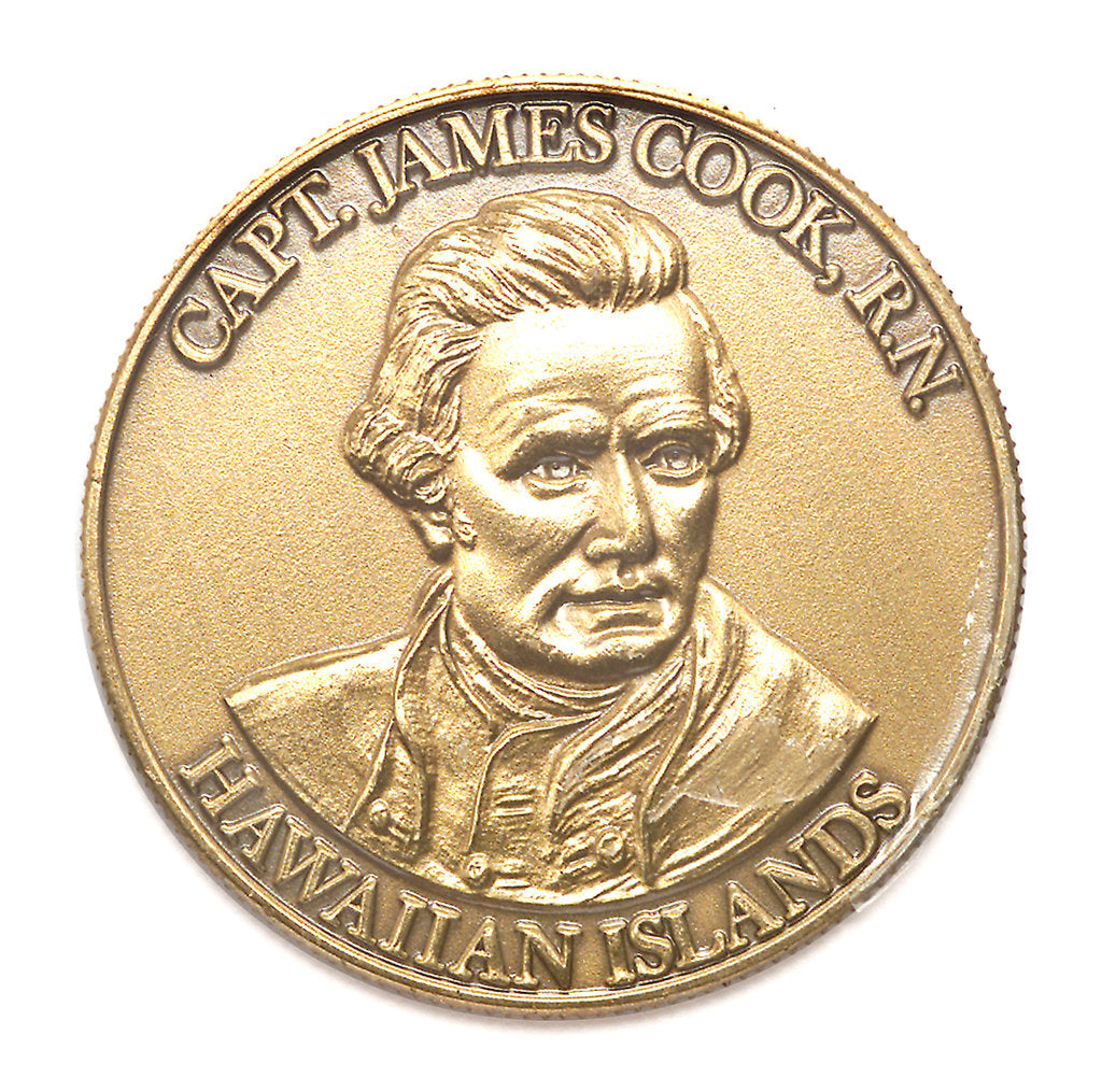Detail of Medal commemorating the bicentenary of Cook's discovery of Hawaii, 1978; obverse by MDH Enterprises