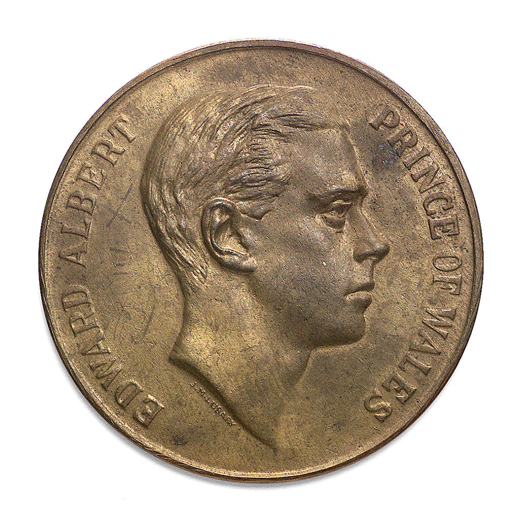 Detail of Medal commemorating the visit of  the Prince of Wales to Argentina, 1925; obverse by J.M. Lubary