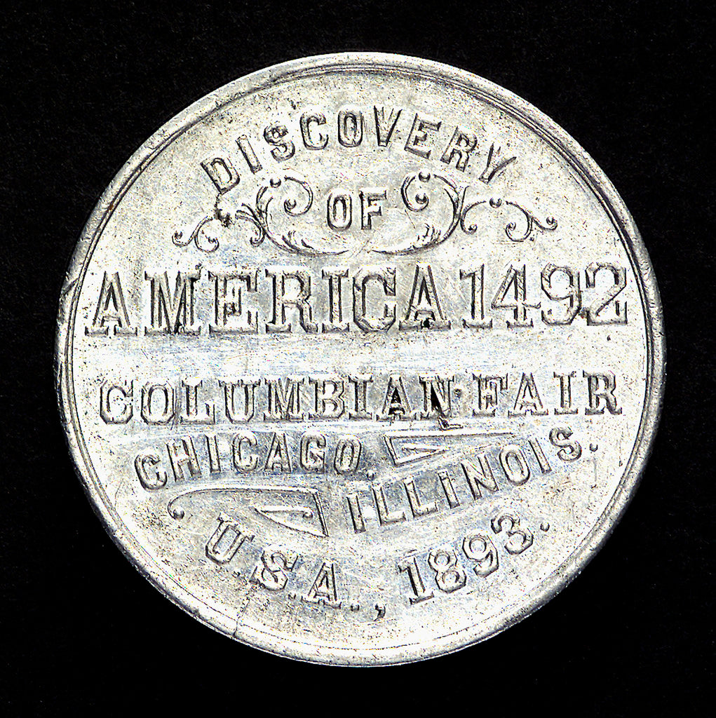 Detail of Medal commemorating Christopher Columbus (1451-1506) and the discovery of America; reverse by unknown