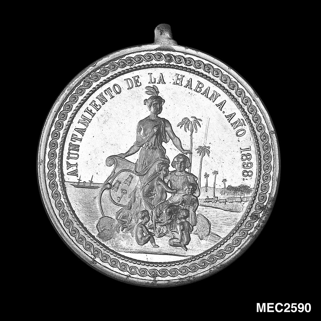Detail of Medal commemorating the blockade of Cuba, 1898 by unknown