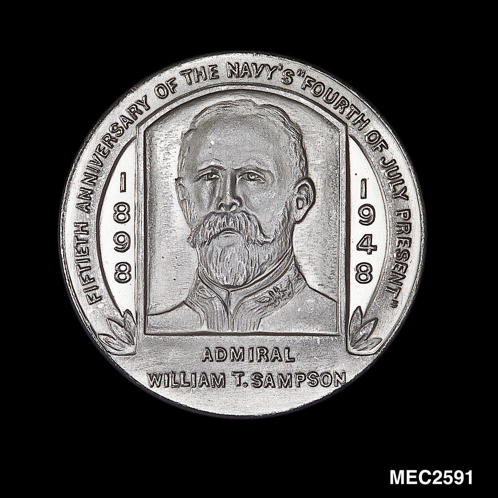 Medal commemorating the destruction of the Spanish Fleet off Santiago Cuba, 1898 by W. & H. Co.