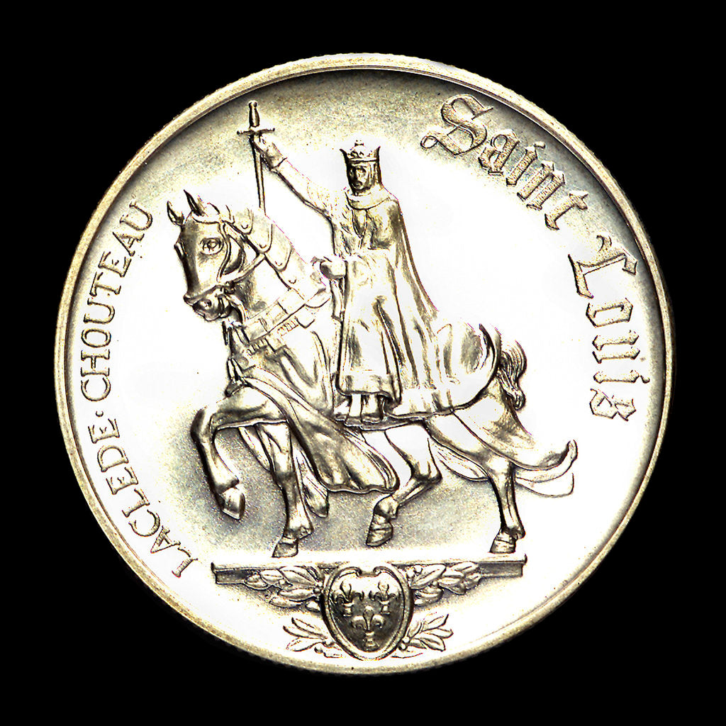 Detail of Medal commemorating the bicentennial of St Louis, 1964; obverse by Heraldic Art