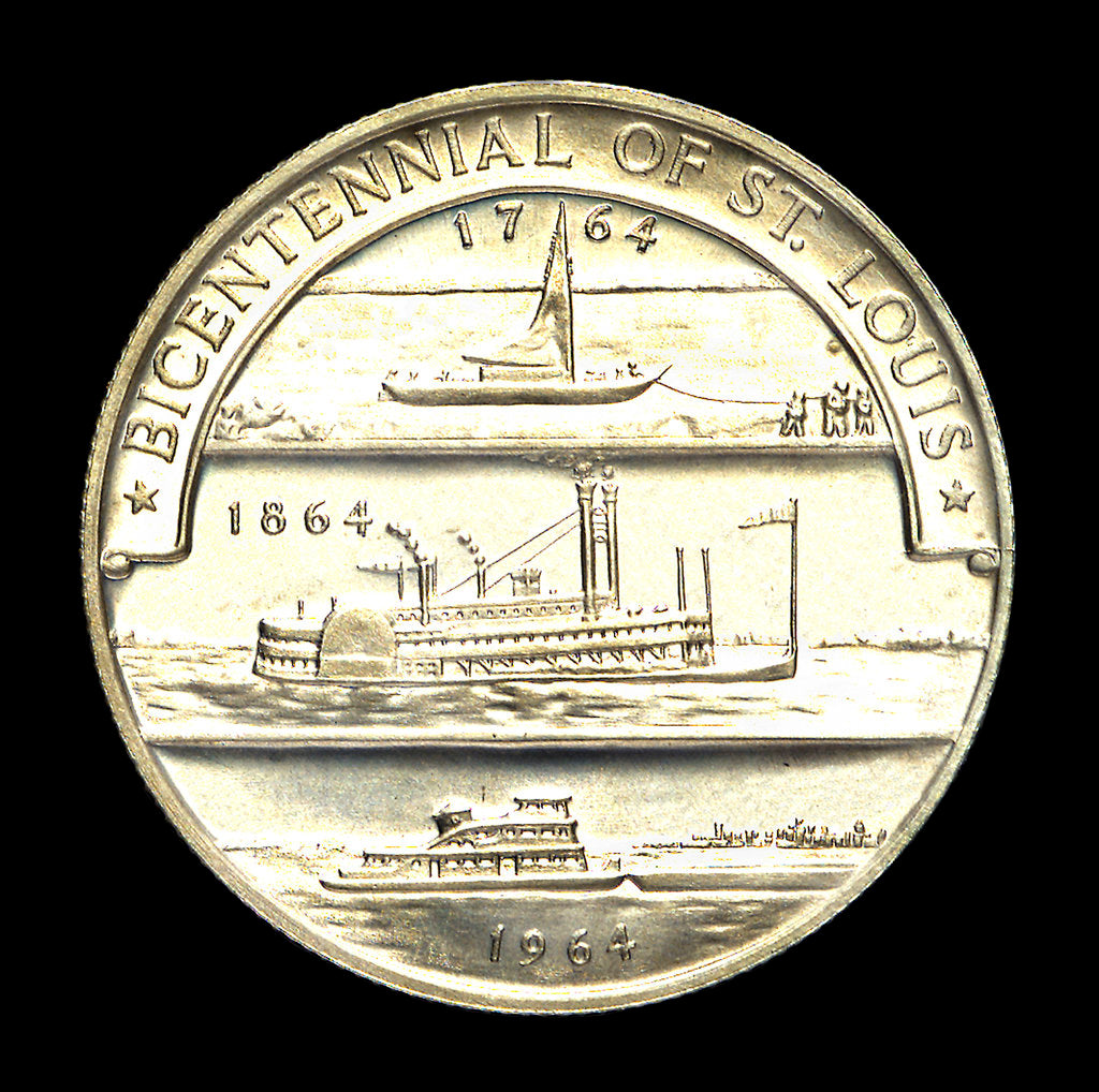 Detail of Medal commemorating the bicentennial of St Louis, 1964; reverse by Heraldic Art