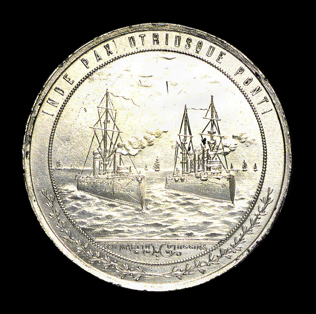 Detail of Medal commemorating peace between Chile and Argentina, 1911; obverse by unknown