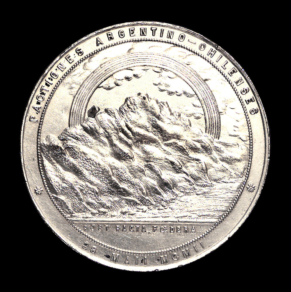 Medal commemorating peace between Chile and Argentina, 1911; reverse by unknown