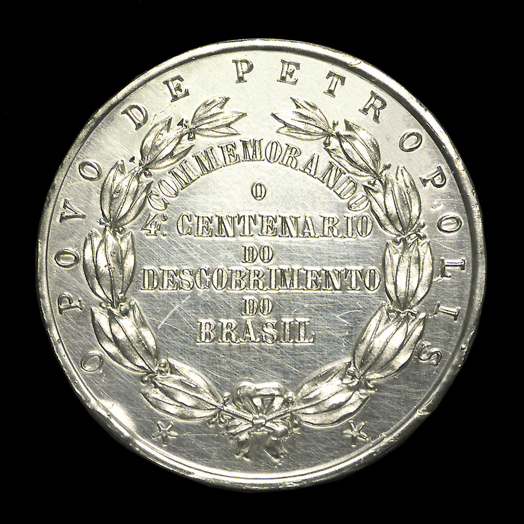 Detail of Medal commemorating the fourth centenary of the discovery of Brazil, 1900; reverse by unknown