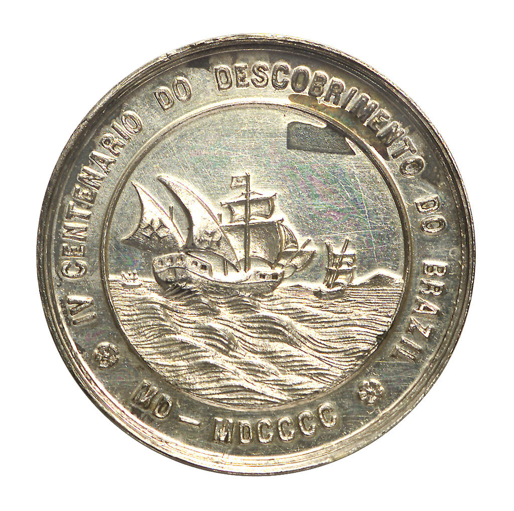 Detail of Medal commemorating the fourth centenary of the discovery of Brazil, 1900; obverse by unknown