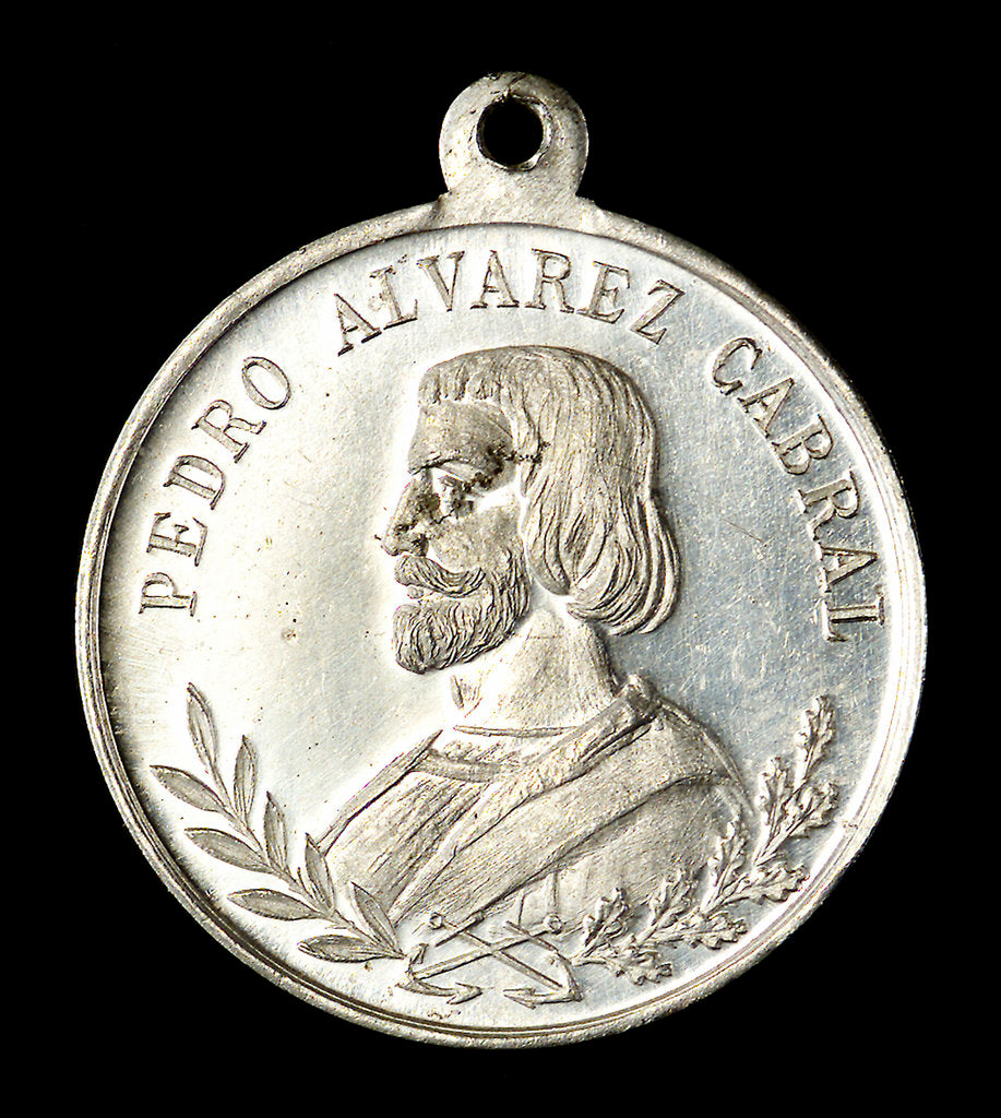 Detail of Medal commemorating the discovery of Brazil and Admiral Cabral; obverse by unknown