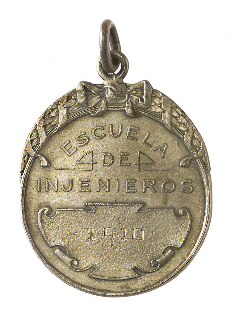 Detail of Badge of the School of Engineers, Chile; reverse by C. Rossi