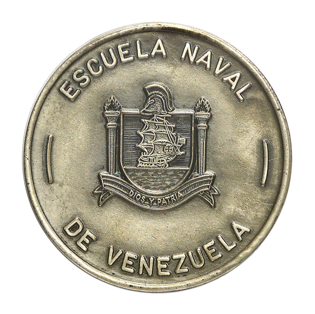 Detail of Venezuelan Naval School badge; obverse by unknown