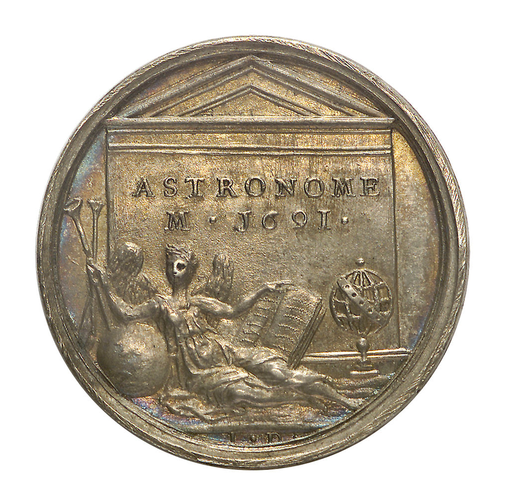 Detail of Commemorative medal depicting Ismael Bouilleau; reverse by J. Dassier