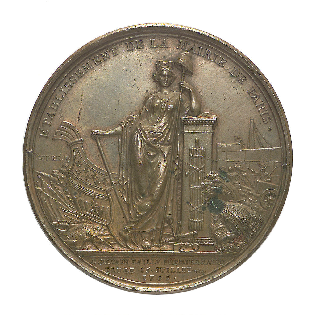 Detail of Medal commemorating Louis XVI and the City of Paris; reverse by P.S.B. Duvivier