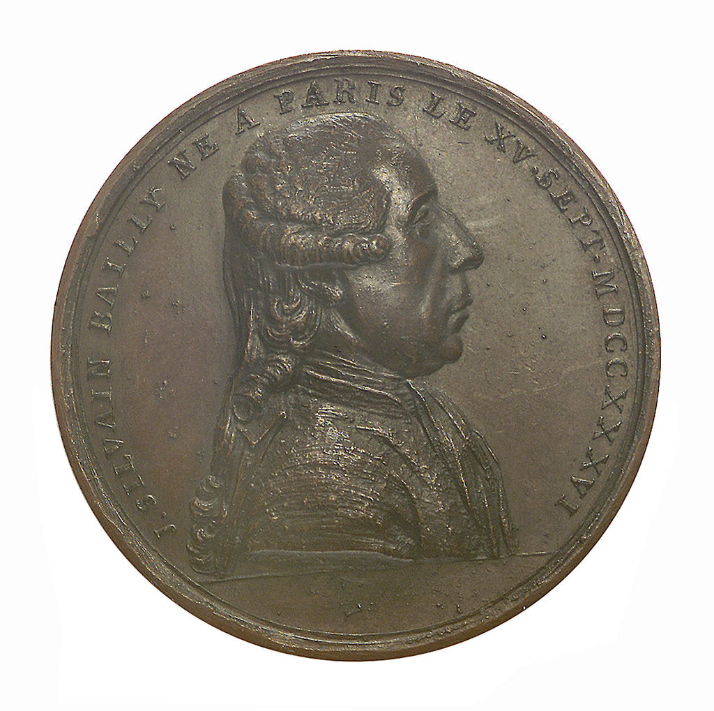 Detail of Commemorative medal depicting John Sylvanus Bailly (1736-93); obverse by unknown