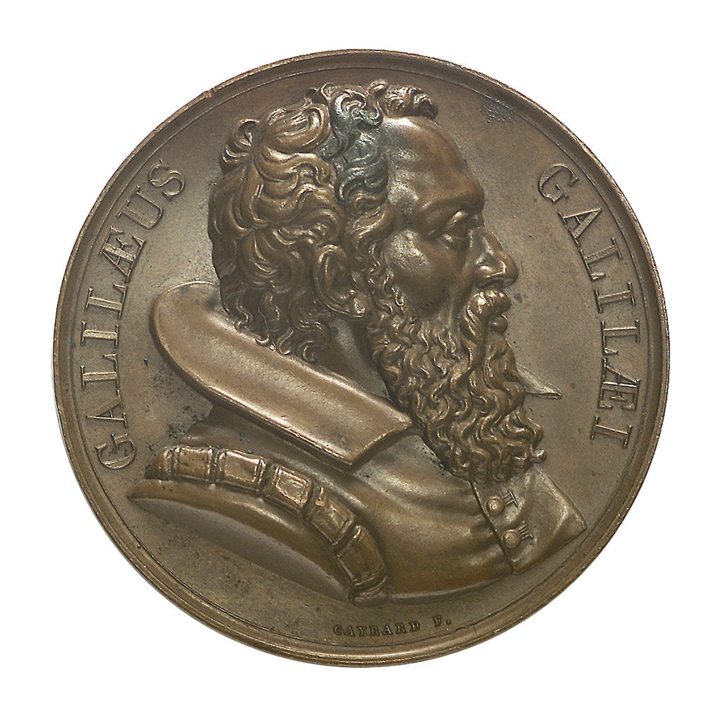 Detail of Commemorative medal depicting Galilaeo Galilei (1564-1642); obverse by R. Cayrard