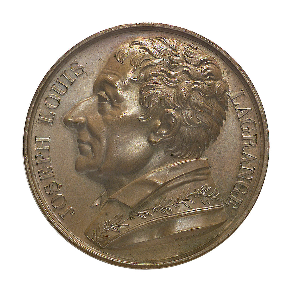 Detail of Commemorative medal depicting Joseph Louis La Grange (1735-1813); obverse by Donadio