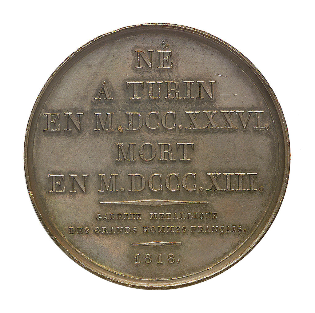 Commemorative medal depicting Joseph Louis La Grange (1735-1813); reverse by Donadio