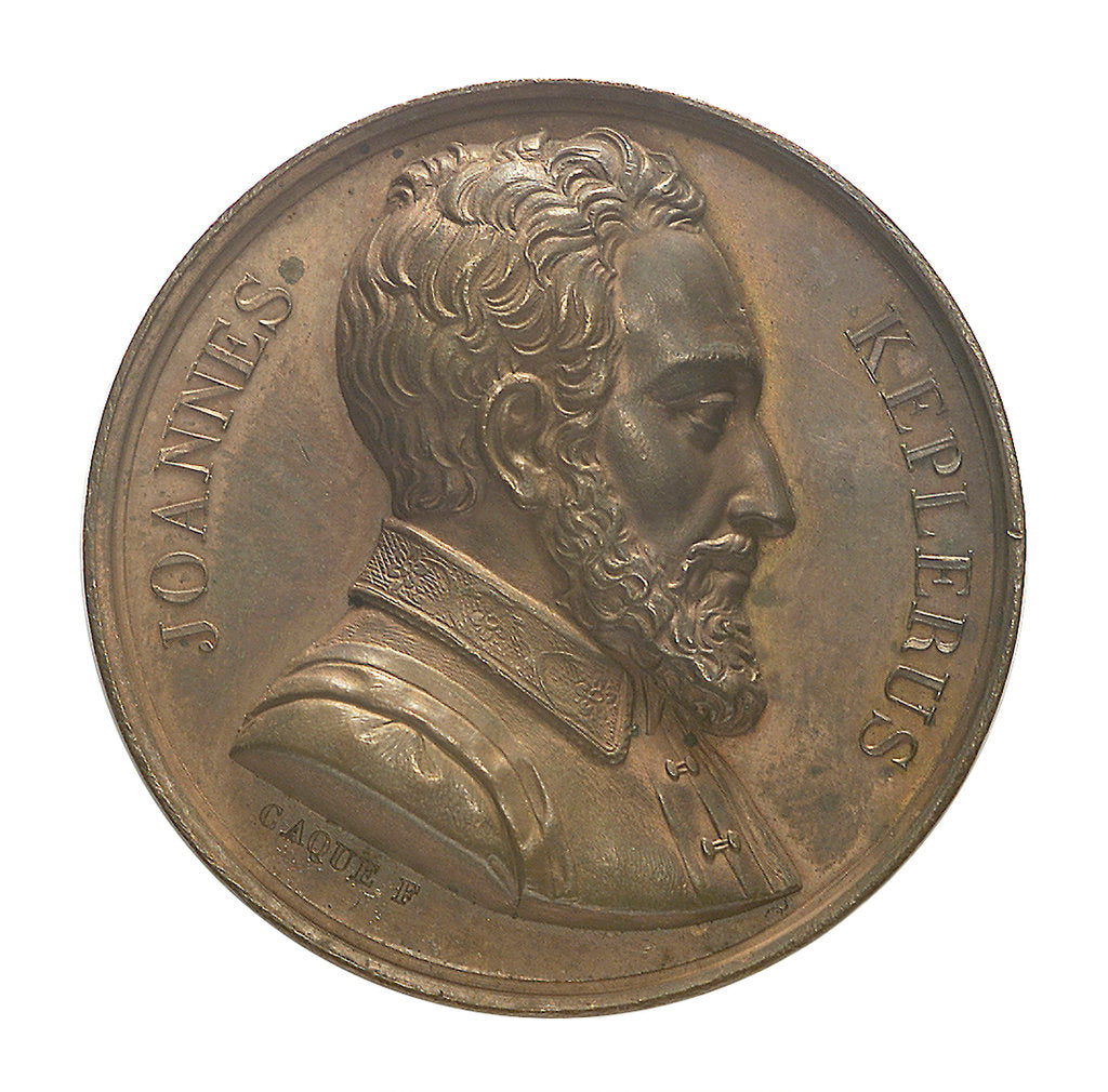 Detail of Commemorative medal depicting John Kepler (1571-1630); obverse by A.A. Caqu