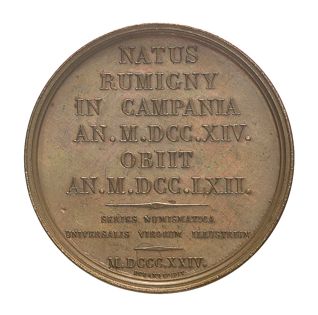 Detail of Commemorative medal depicting Nicholas Louis de la Caille (1714-62); reverse by I. Schmidt