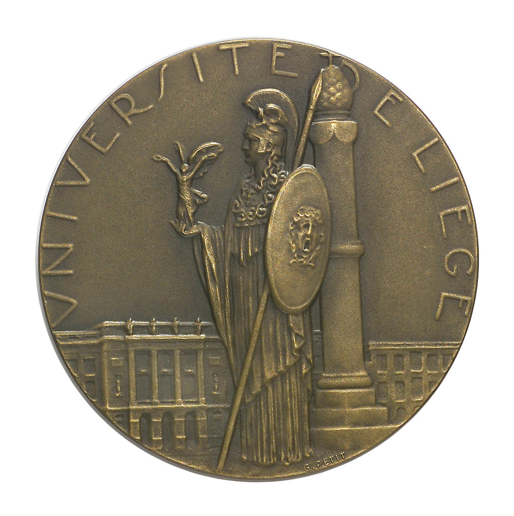 Detail of Commemorative medal, University of Liège by G. Petit