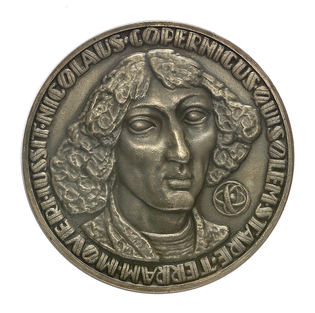 Detail of Commemorative medal depicting Nicholas Copernicus (1473-1543); obverse by F. Kalfas